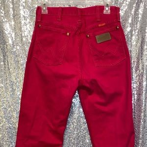 """RED VINTAGE WRANGLERS SIZE 7 (29"""")"""
